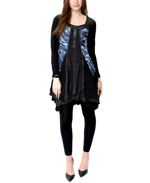 Zoom view for Mixed Media Long Sleeve Tunic
