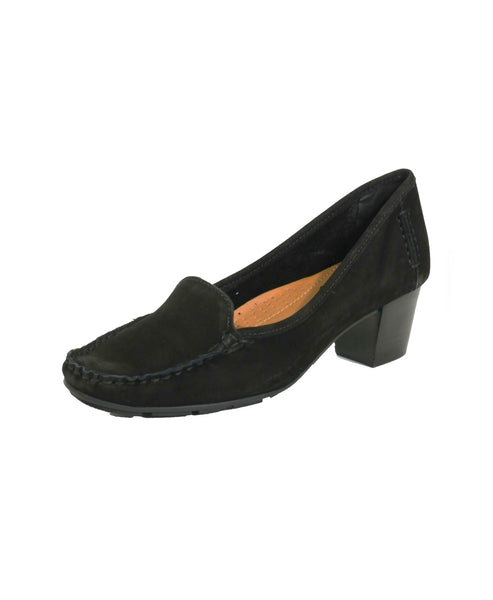 Suede Moccasin Pump