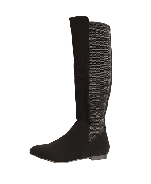 Tall Shaft Stretch Boot w/ Textured Back - Fox's