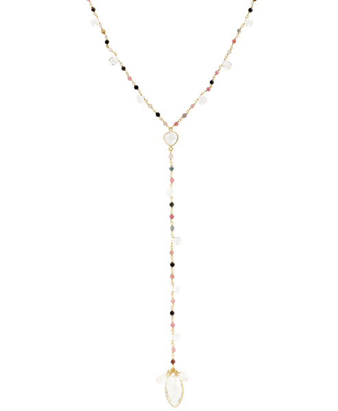 Zoom view for Lariat Necklace w/ Semi Precious Stones A