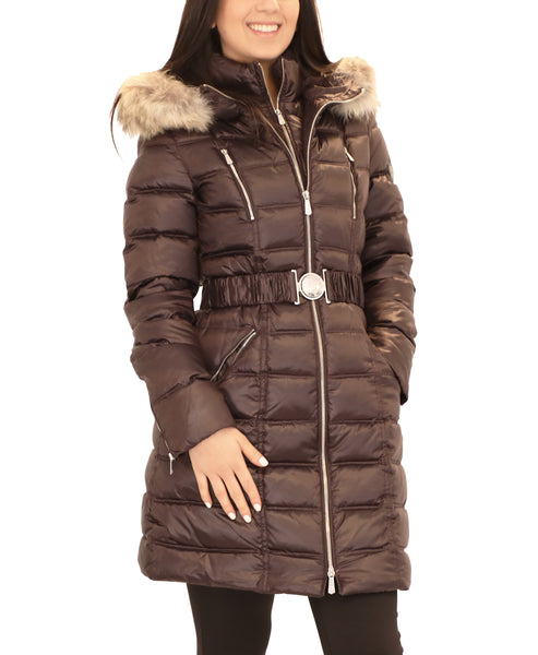 Down Puffer Coat w/ Coyote Fur Trim Hood