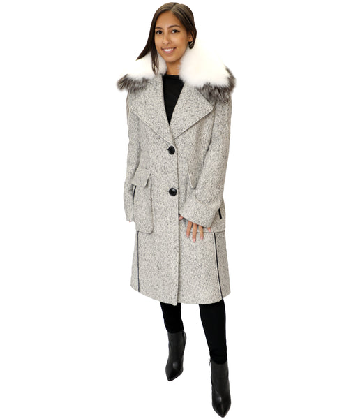Zoom view for Tweed Coat w/ Fox Fur