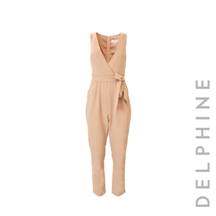 Crossover Sleeveless Jumpsuit