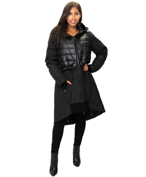 Zoom view for Hi-Lo Down Coat w/ Rex Rabbit