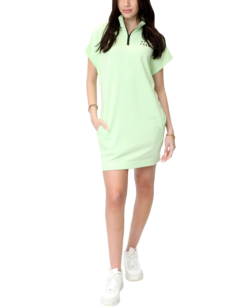 Logo Half Zip Dress