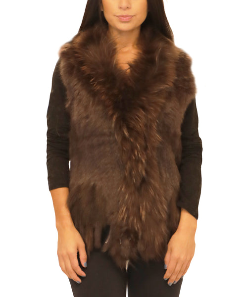 Knitted Fur Vest - Fox's