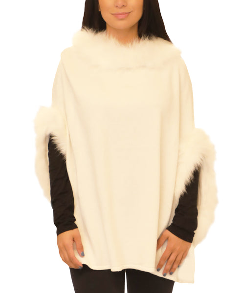Poncho w/ Fox Fur Trim - Fox's