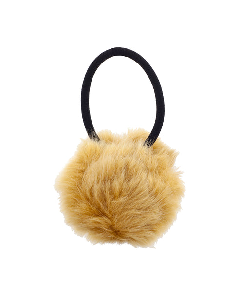 Zoom view for Faux Fur Pom Hair Tie A