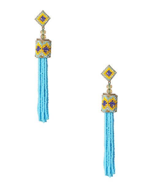 Zoom view for Beaded Tassel Earrings