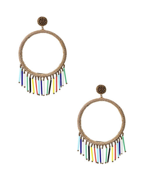 Zoom view for Earrings w/ Beaded Fringe