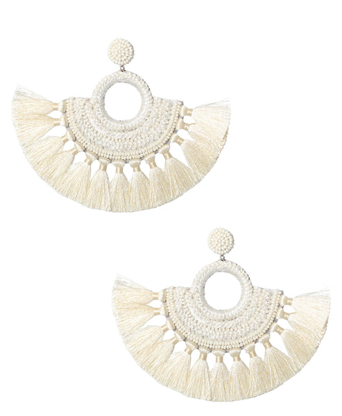 Zoom view for Beaded Earrings w/ Fringe