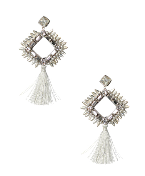 Zoom view for Crystal Earrings w/ Fringe
