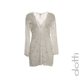 V-Neck Lace Tunic Cover-Up