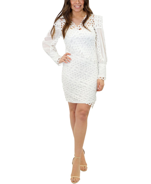 Zoom view for Crochet Puff Sleeve Dress