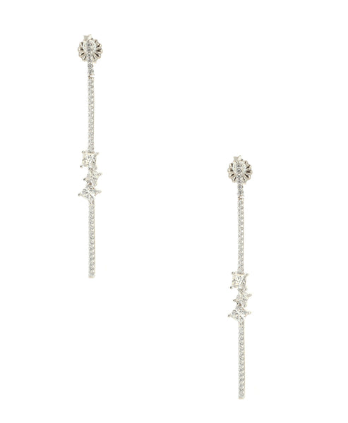 Zoom view for CZ Drop Bar Earrings