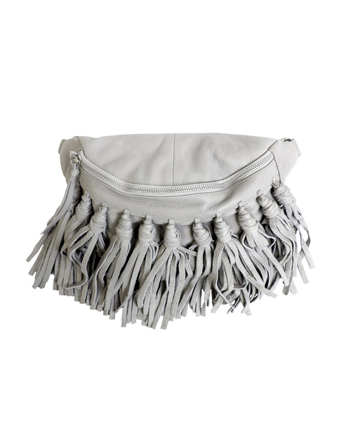 Zoom view for Leather Fringe Sling Bag A