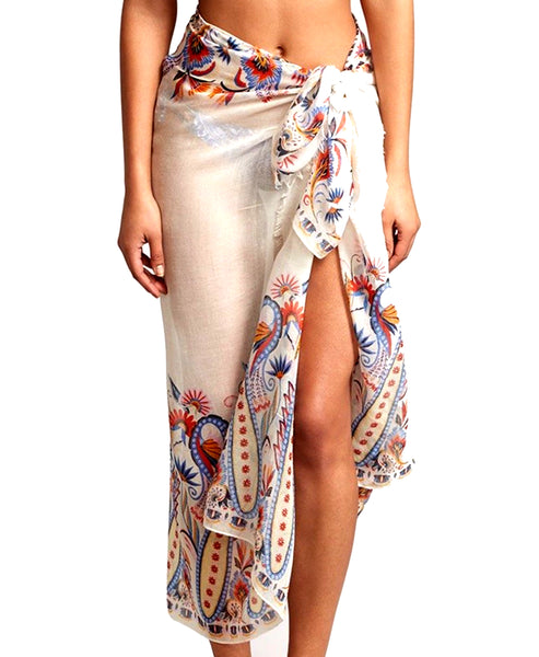 Zoom view for Paisley Pareo Beach Wrap A