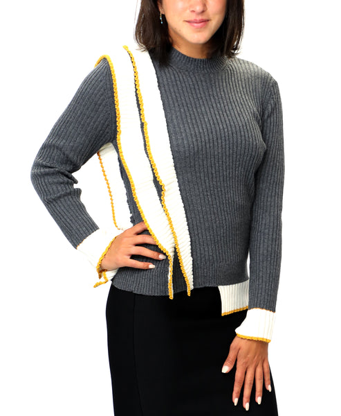 Zoom view for Ribbed Sweater w/ Ruffle