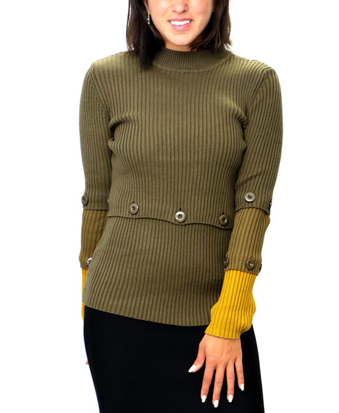 Zoom view for Colorblock Ribbed Sweater