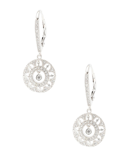 Zoom view for Open Cut Earrings w/ Floating Cubic Zirconia