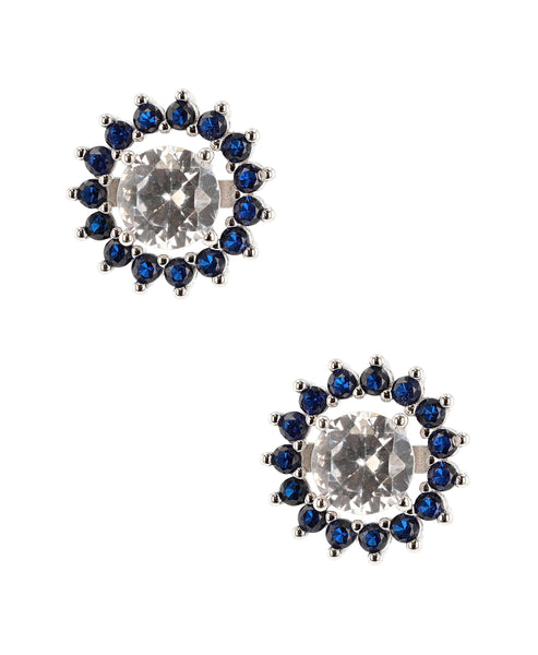 Zoom view for Cubic Zirconia Stud Earrings w/ Removable Halo