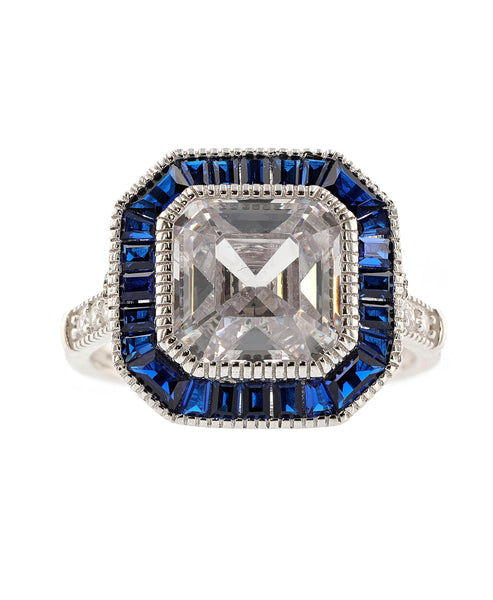 Zoom view for Cubic Zirconia Square Statement Ring