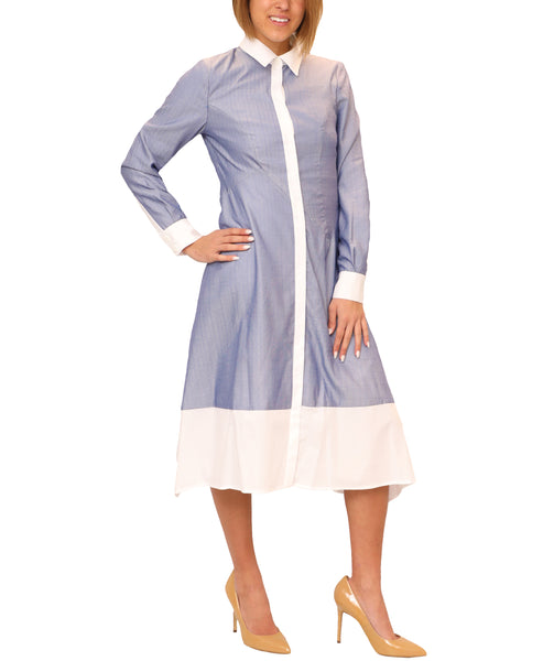 Zoom view for Fit & Flare Shirt Dress