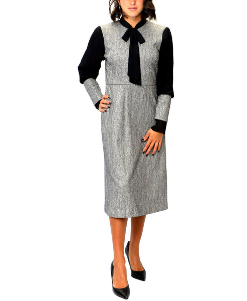 Zoom view for Tweed Jacquard Dress w/ Lurex Accents