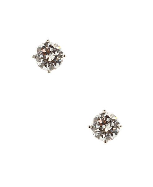 Round Cubic Zirconia Stud Earrings - Fox's