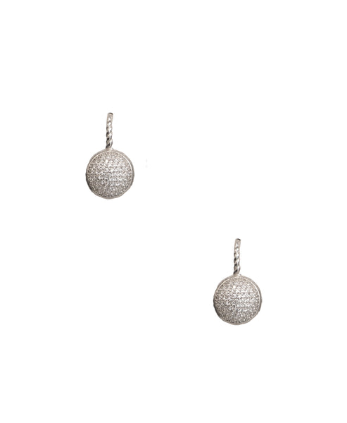 Round Pave Earrings