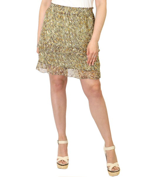Zoom view for Shell Print Ruffle Skirt