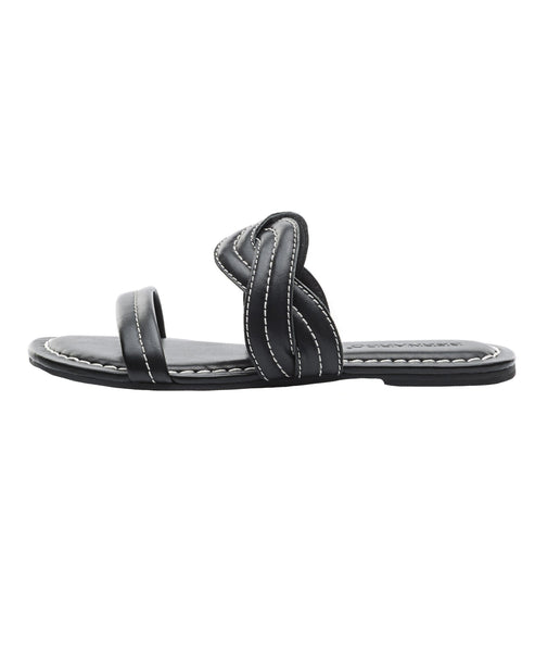 Leather Double Band Slide