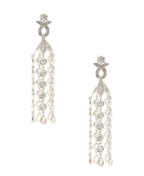Zoom view for CZ Drop Dangle Statement Earrings