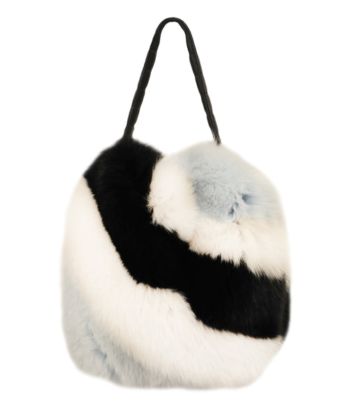 Fox Fur Colorblocked Bucket Handbag - Fox's