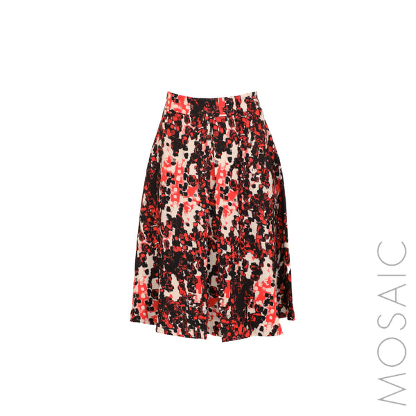 Print Fit & Flare Skirt