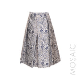 Floral Box Pleat Skirt