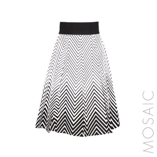 Fit & Flare Chevron Stripe Skirt