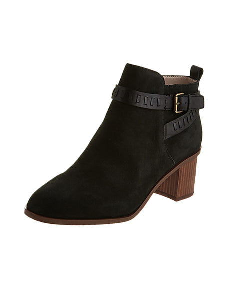 Ankle Strap Leather Bootie