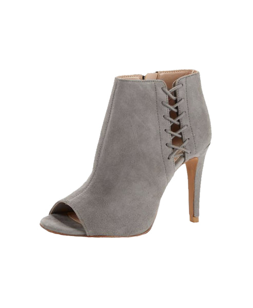Peep Toe Suede Ankle Bootie