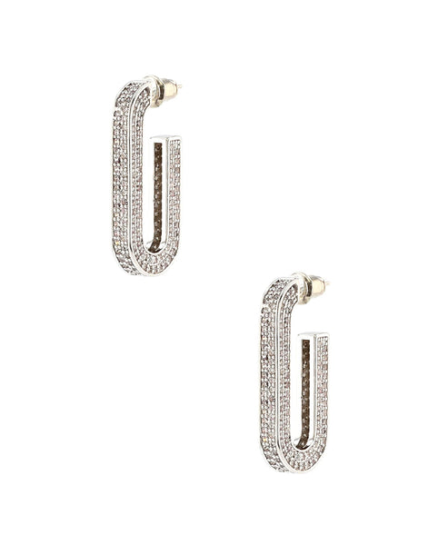 Zoom view for Rectangular Hoop Earrings