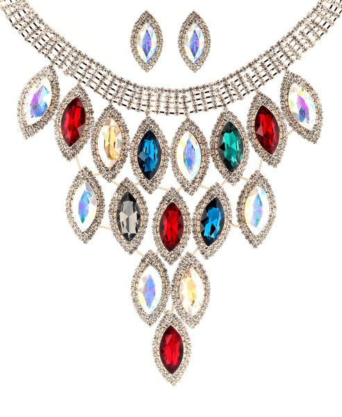 Zoom view for Statement Collar Necklace & Earring Set A