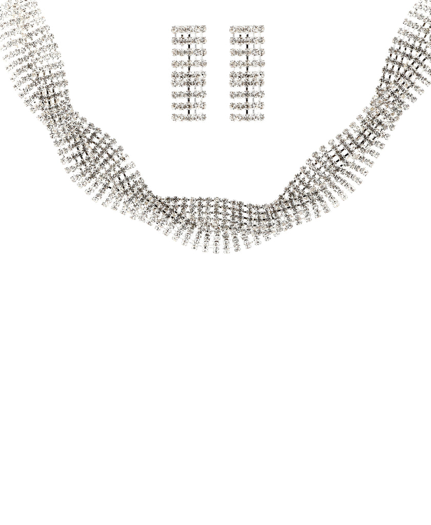 Statement Choker Necklace & Earring Set
