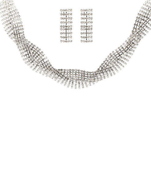 Zoom view for Statement Choker Necklace & Earring Set A