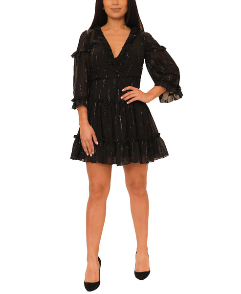 Dress w/ Ruffle & Shimmer Accents - Fox's