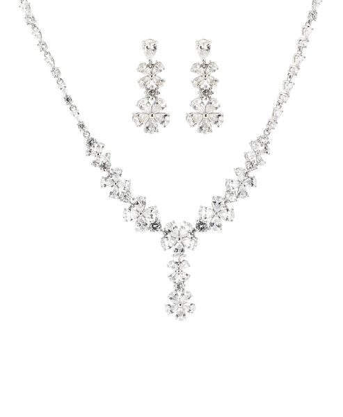 Zoom view for Cubic Zirconia Necklace & Earring Set