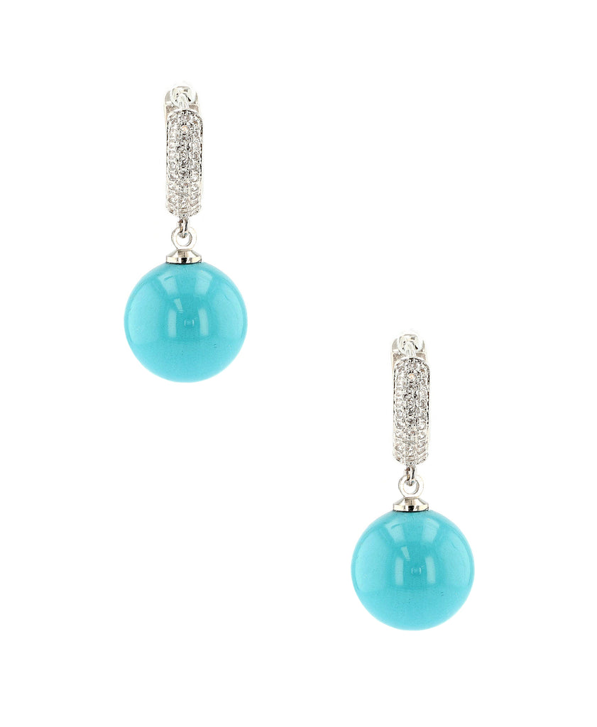 Drop Earring w/ Glass Pearl