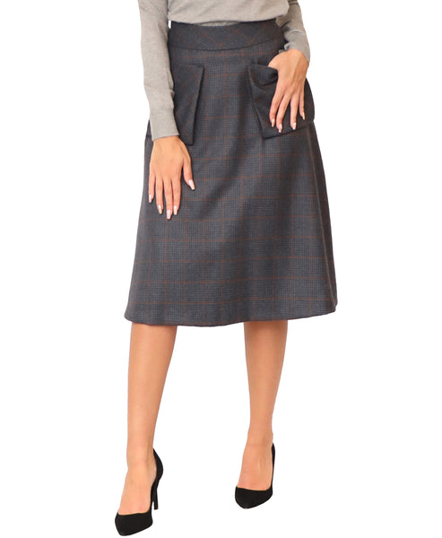 Plaid A-Line Skirt