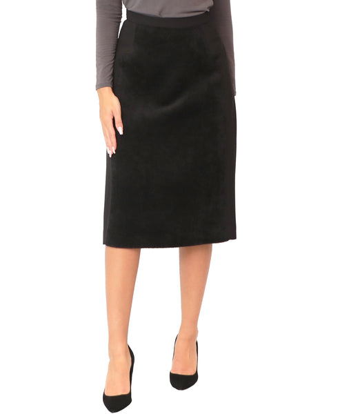 Skirt w/ Faux Calf Hair Panel