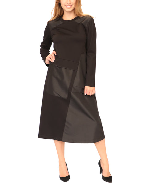 A-Line Dress w/ Taffeta Insets