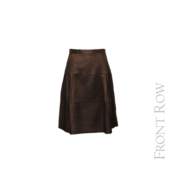 Patterned Shimmer Skirt